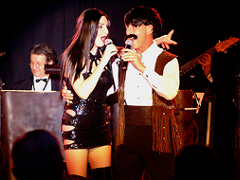 Bonnie Kilroe as Cher with speical guest Sonny Bono - Celebrity Imposters Impersonator