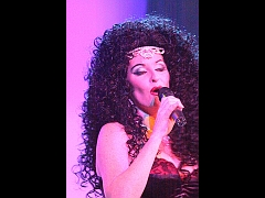 Bonnie Kilroe live on stage as Cher - Celebrity Imposters Impersonator