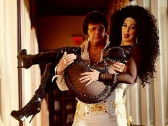 Bonnie Kilroe as Cher with Elvis Impersonator